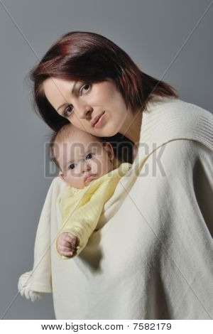Child in mother arms