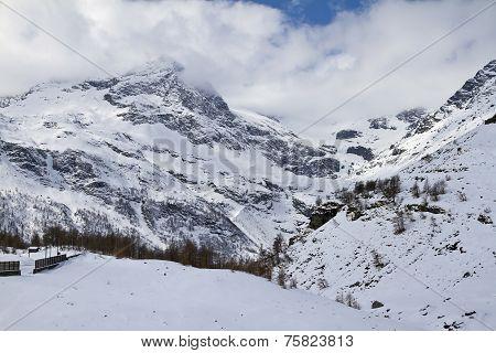 Alpine Panorama Near Alp Grüm