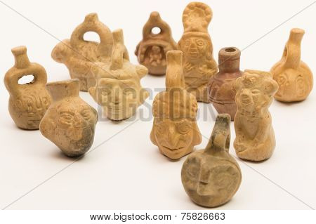 Pieces Of Peruvian Pottery, Inca Ceramic