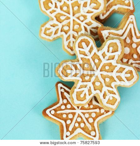 Christmas Gingerbread Cookies Border Square