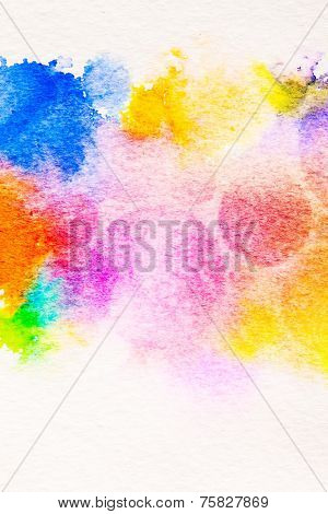 watercolor circle splashes