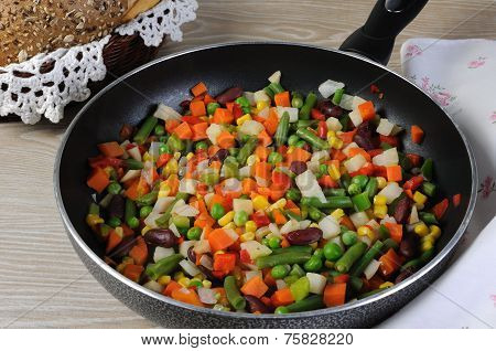 Stew Stewed Vegetables In A Pan