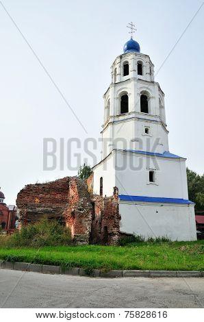 Church tower. Kazan metochion Raifa male monastyrya.Kazan, Tatarstan, Russia.