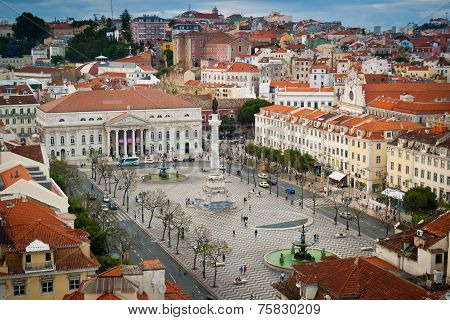Rossio Square Aerial View