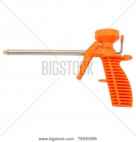 Foam gun isolated
