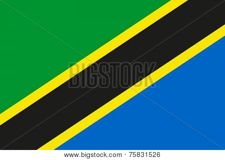 National Flag Of Tanzania