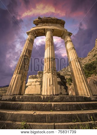The Tholos at Delphi, Greece