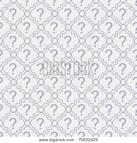 Purple And White Question Mark Symbol Pattern Repeat Background