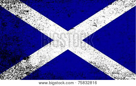 Scotish Flag Grunge