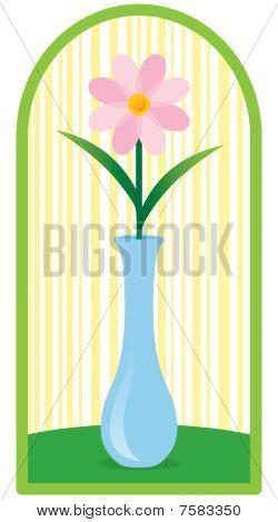 Flower In Bud Vase