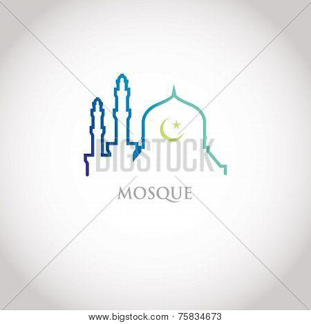 Colorful mosque design