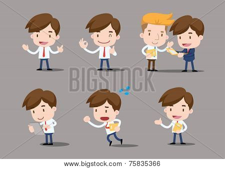 Vector Businessman series - salary man