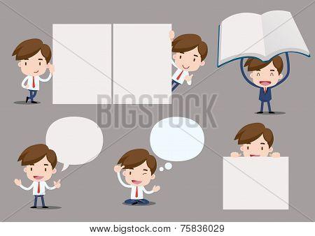 Vector businessman series - blank set