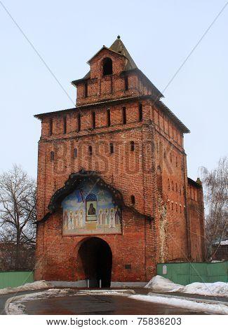Pyatnitsky gates in Kolomna Kremlin, Russia