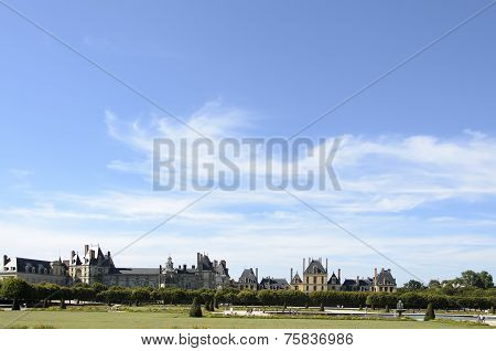 External Views Of The Beautiful Park And The Castle Of Fontainebleau