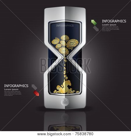The Idea To Create Money With Sandglass Design