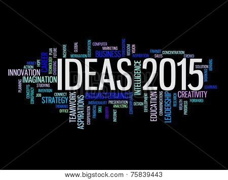 ideas to strategy in 2015 concept word cloud