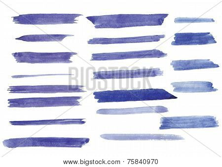 watercolor brush strokes on paper
