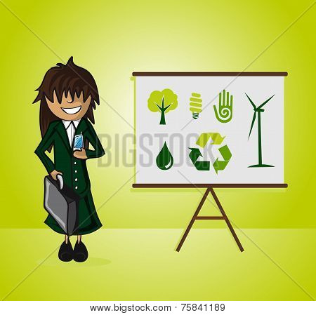 Ecology Bussines Woman Presentation
