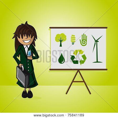 Ecology Bussines Woman Presentation