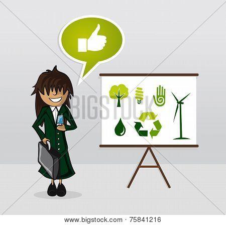 Ecology Energy Businesswoman