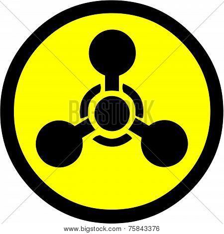 Sarin Gas or Nerve Gas Symbol