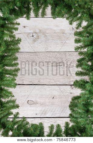 Christmas green frame