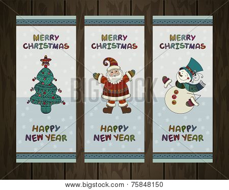 Vector set of christmas backgrounds. Christmas banners