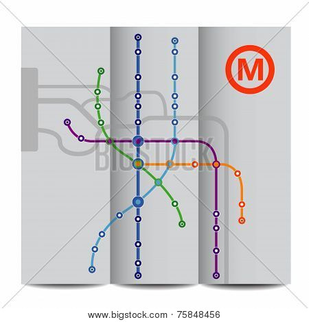 Abstract background of vintage metro scheme