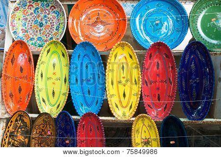 Earthenware In Tunisian Market