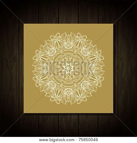 Retro Vintage wedding greeting card. Vector background. Card or