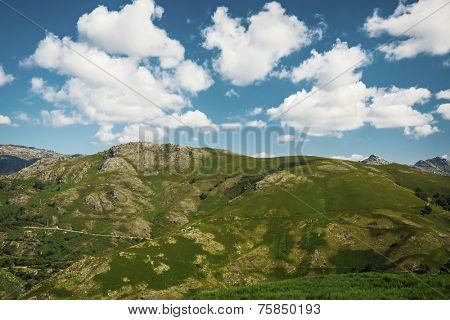 Big moutains with blue sky lanscape