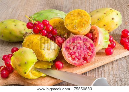 Prickly Pears And Raspberries