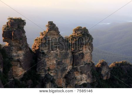 Three Sisters rock  formation.