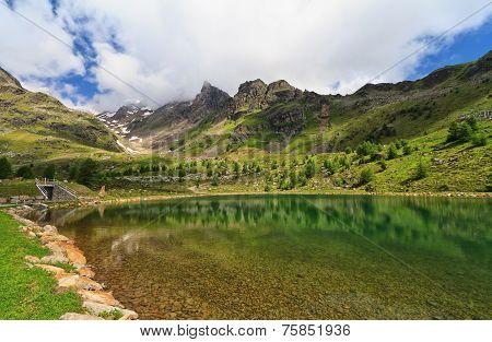 Small Lake In Pejo Valley