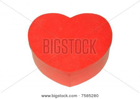 Heart-shaped red box