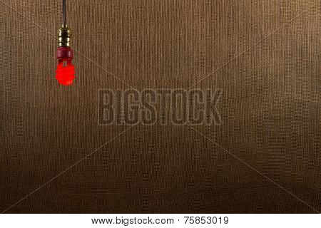 Hanging Red Cfl Bulb Background