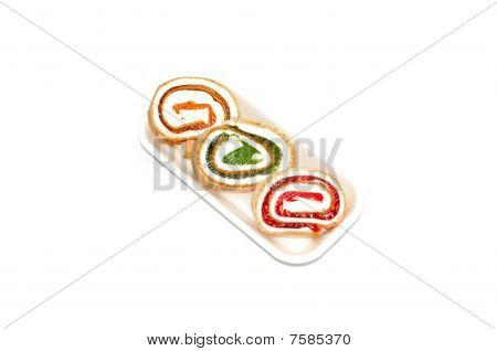 Tasty multicoloured sweets