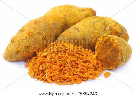 Whole And Grated Turmeric