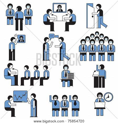 business conference and business meeting people