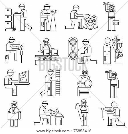 people in industrial works