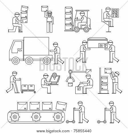 worker in production line