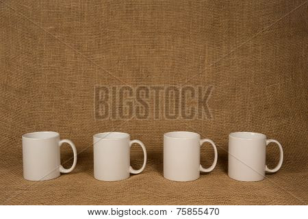 Coffee Mug Background - White Mugs