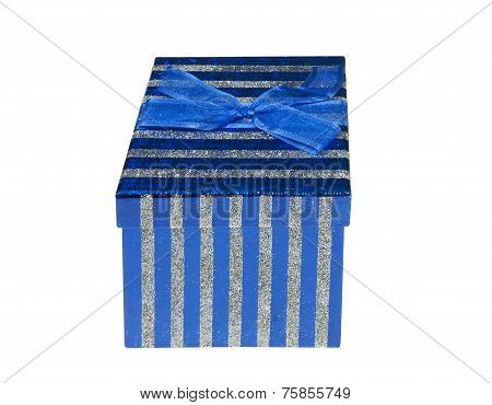 Sparkling blue gift box