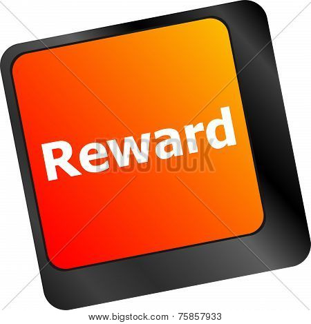 Rewards Keyboard Keys Showing Payoff Or Roi