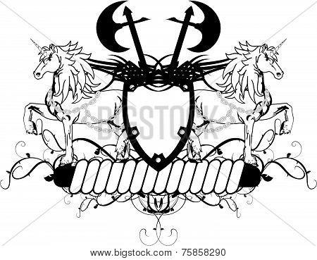 heraldic unicorn coat of arms crest5