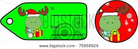 turtle xmas baby cartoon gift card