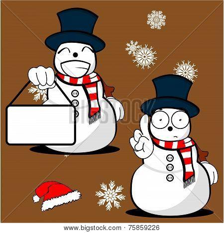 snow man cartoon xmas set03