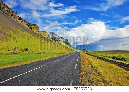 Iceland in July. Smooth highway, going around the island