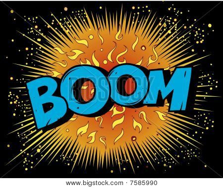 BOOM explosion in space